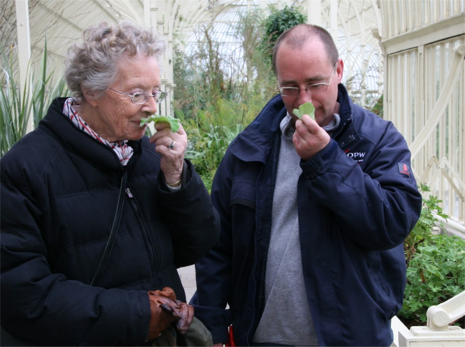 Joan Carvill and Michael Higgins at the National Botanic Gardens
